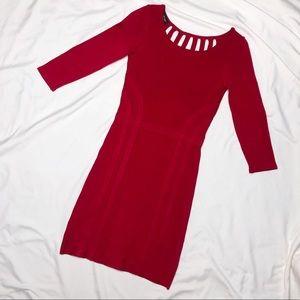 Bebe Long Sleeve Bandage Dress Open Back XS